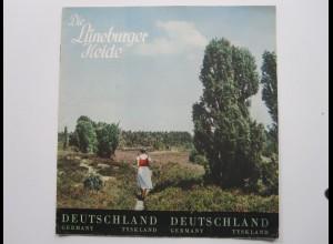 C4453/ Die Lüneburger Heide Prospekt Heft 12 Seiten ca.1955