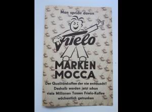 C4464/ Frielo Marken Mocca Kaffee Reklame Werbung Faltblatt ca.1955-60