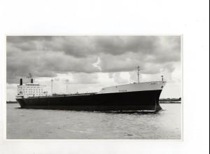 C1358/ Handelsschiff Tanker Diala auf der Elbe Foto ca.1965 21,5 x 13 cm