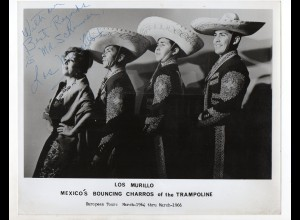 c1332/ Los Murillo Mexico`s Bouncing Charros of the Trampoline Foto 1966 Variete