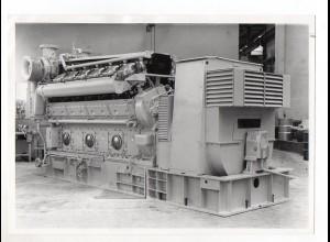 C1486/ Diesel-Motor Bergen KVG-12 Schiffsgenerator Foto ca. 1965 21 x 15 cm