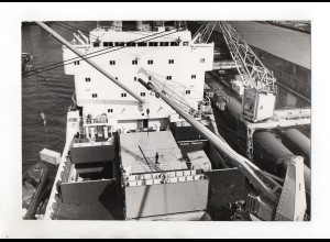 C1458/ Blick auf Schiffsdeck Blohm & Voss AG Hamburg Foto ca. 1965 23,5 x 16 cm