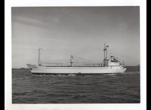 C1559/ Frachter Skagern auf hoher See Foto ca. 1965 24 x 18 cm