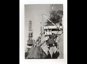 F6594/ Neapel Hafen Italien Truppen kommen von Somalia Foto 1950 18x13 cm