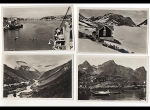 Y074/ 8 x Foto AK NORWEGEN ca. 1930