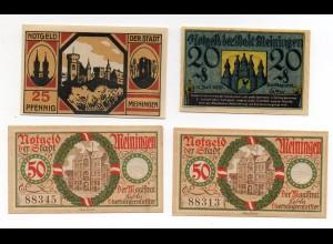 N436-987./ 4 x Notgeld Meiningen 1920