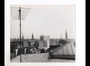 F5812/ Über den Dächern von Hamburg Foto ca.1955-60 20,5 x 18 cm