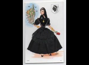 Y618/ Korsika Frau Kleid aus Seide Frankreich
