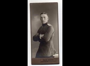 Y16469/ CDV Foto Soldat Atelier Aug. Nolte, Hannover ca.1910