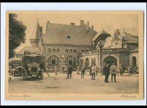 XX14992/ Goslar Bahnhof Omnibus AK ca. 1925