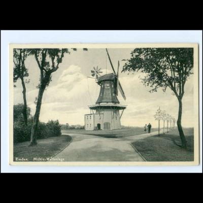 XX15058/ Emden Windmühle Wallanlagen AK 1938