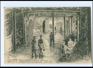 XX15008/ Unsere Regimentshöhle 1914-15 1. Weltkrieg AK