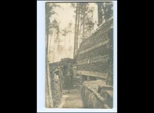 XX15011/ Unterstand Winter-Feldzug 1917 in Galizien Foto AK 1. Weltkrieg