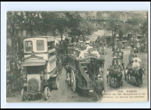 XX15059/ Paris La Station des Omnibus AK 1909