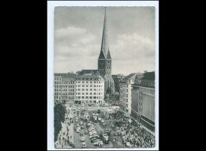Y20020/ Hamburg Jungfernstieg Autos Straßenbahn 1955 AK