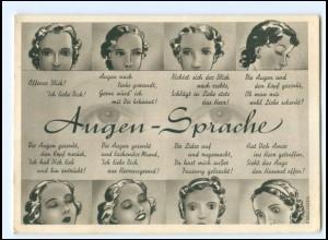 Y20032/ Augen-Sprache AK ca.1940