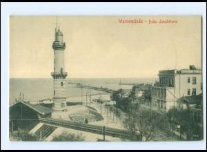 V1885/ Warnemünde beim Leuchtturm AK 1909