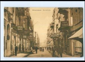 V1909/ Wilhelmshaven Markstraße AK 1915