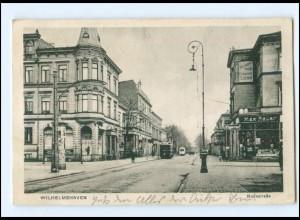 V1911/ Wilhelmshaven Roonstraße Straßenbahn AK 1914