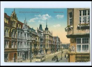 V1916/ Wilhelmshaven Gökerstraße Straßenbahn AK 1915