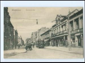 V1919/ Wilhelmshaven Bismarckstraße Straßenbahn AK 1916