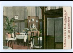 S2972/ Köln G. Rettberg Wein- und Austernstuben AK 1910