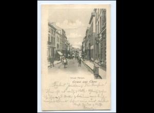 S2986/ Gruß aus Cleve Kleve Große Straße AK 1901