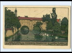 S2983/ Amberg Stadtbrille Litho Steinzeichnung AK 1913