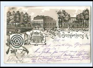 S2887/ Gruß aus Brandenburg Neustädt. Schützenhaus Litho AK ca.1898