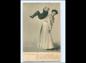 S2994/ Mann und Frau Fotomontage AK ca.1900