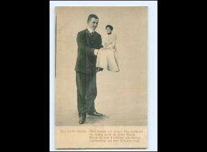 S2996/ Mann und Frau Fotomontage AK ca.1900