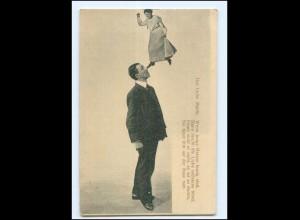 S2995/ Mann und Frau Fotomontage AK ca.1900