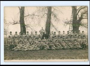 S2992/ K.k. Landwehr-Infanterieregiment Leitmeritz Militär Soldaten Foto AK