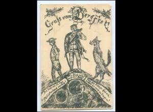 V1929/ Gruß vom Bergfest Fuchs Studentika Studenten AK 1904