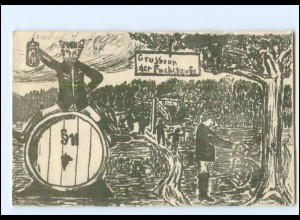 V1928/ Gruß von der Fuchstaufe Studenten Studentika AK 1904