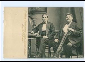 "V1935/ Künstler-Instrumental-Duett ""Wiener Humor"" AK Doppelkopf-Gitarre 1924"