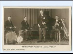 Y20073/ Tanzturnier Kapelle Jolanta Foto AK ca.1930 Foto H. Mahler Saxophon