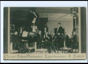 V1952/ Wiener Salon-Orchester Kapellmeister A. Földesi Foto AK 1912