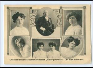 V1939/ Österr. Damenorchester Gebirgskinder AK ca.1912