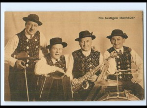 V1940/ Musikkapelle die lustigen Dachauer Saxophon, Akkordeon AK ca. 1920