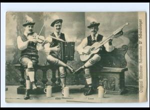 V1941/ Original Münchener Schrammeln D`Schwabinger AK Doppelkopf-Gitarre, Geige