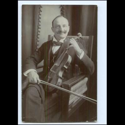Y20071/ Josef Balduf Geige Violine Rücksetie mit Widmung Foto AK 1914