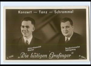 V1943/ Die lustigen Grafinger - Konzert - Tanz - Schrammel Foto AK ca.1930