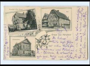 XX15146/ Gruß aus Kerzfeld Post, Gemeindehaus AK Elsaß
