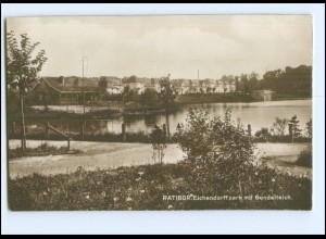 XX15185/ Ratibor Eichendorffpark Foto AK Schlesien 1925