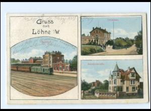 XX15204-4972/ Löhne Bahnhof Amtshaus AK 1914