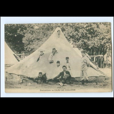 Y20472/ Camp de Chalons Frankreich Militär AK 1914