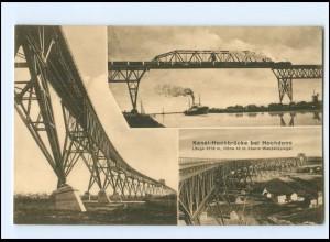 V2011/ Hochdonn Kanal-Eisenbahn-Hochbrücke AK ca.1912