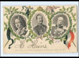 Y20633/ 200 jährige Bestehen des Königreichs Preußen 1701-1901 AK Kaiser Wilhelm