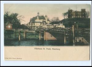 Y20287/ Hamburg St. Pauli Fährhaus ca.1900 AK